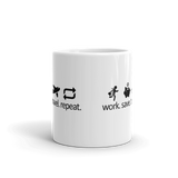 Work Save Travel Repeat (Black) - Mug