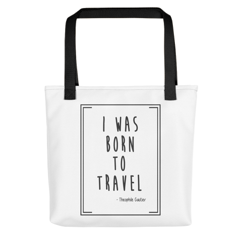 Born To Travel Quote - Tote bag