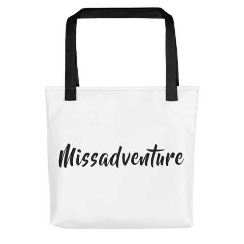 MissAdventure (Black) - Tote bag