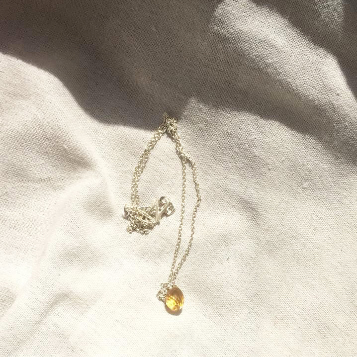 Citrine Tear Drop Pendant