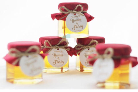 Honey 40ml or Fruit Jam  with Fabric Cover