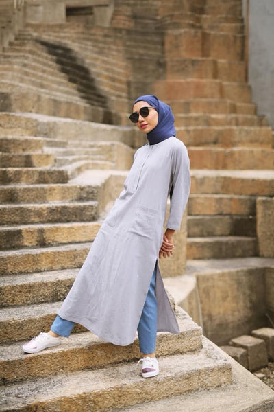 Waseema Linen Split Long Top