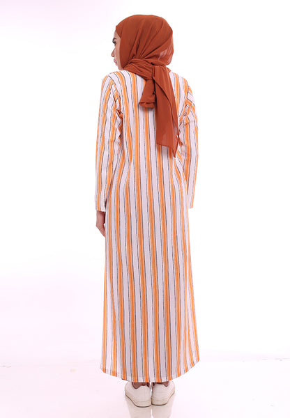 Stripe Split Long Top