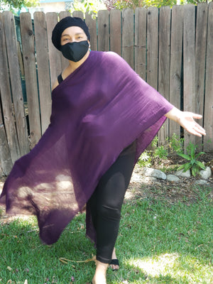 "One Shoulder Wrap  ""Royal Purple"""