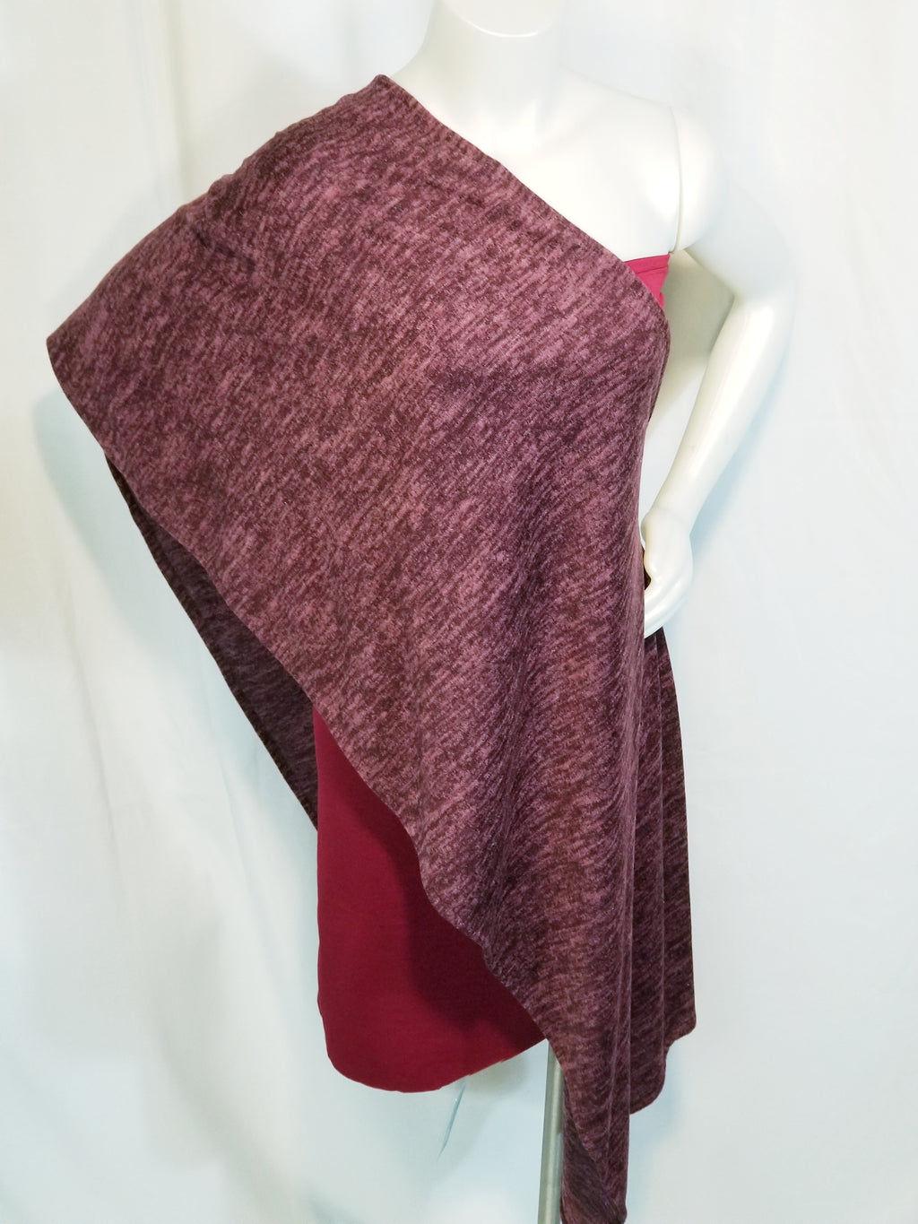 One Shoulder Wrap - Berry-lichous