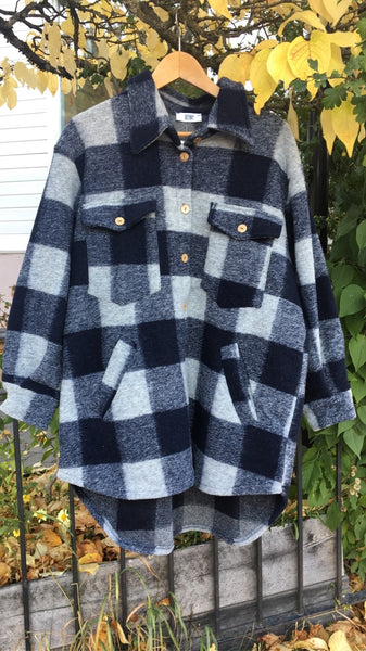 Valley short coat checked