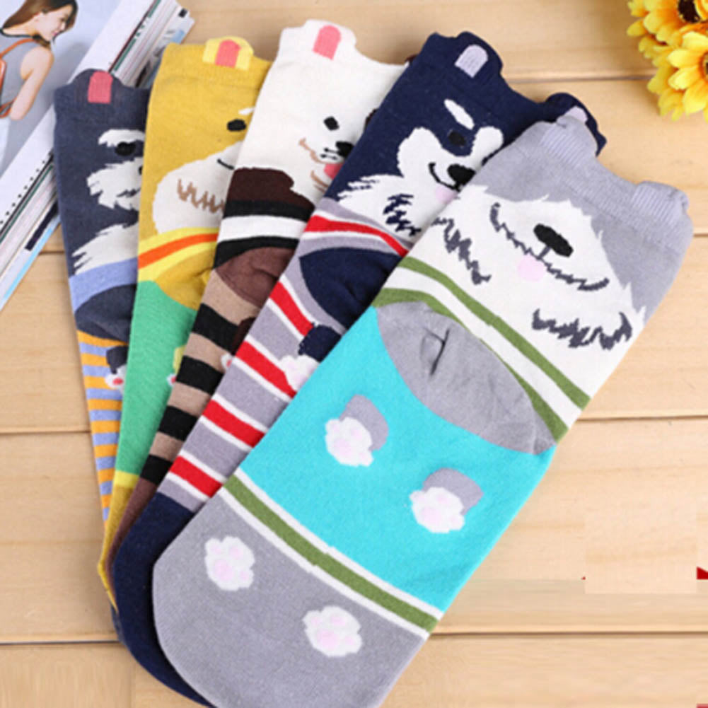 Cute Dog Socks - Women