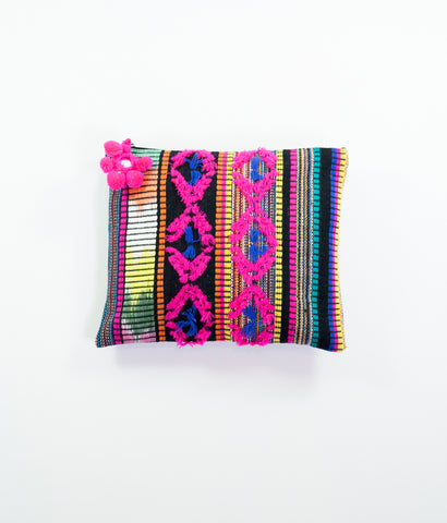 Carnaval black and bright Aztec pouch