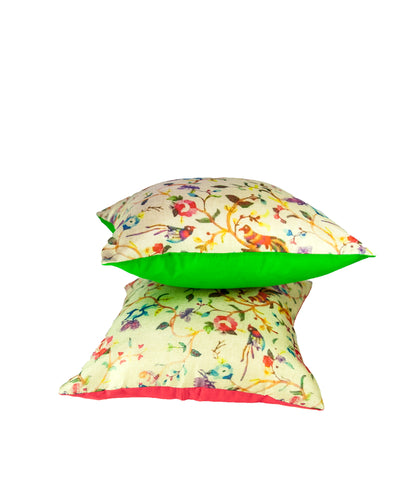 Baby bird silk scatter cushion