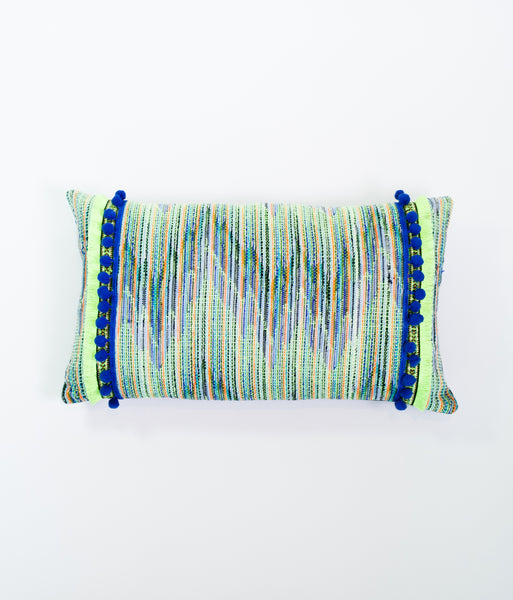 Carnaval mini striped cushion