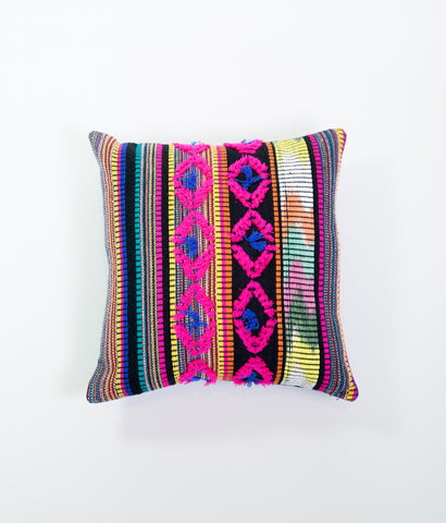 Carnaval multicoloured Mexican cushion