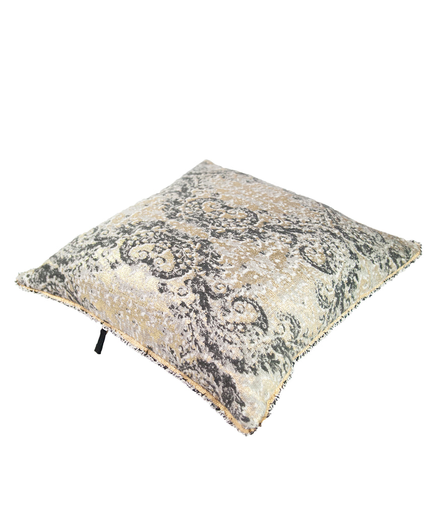 Metallic gold Baroque cushion