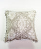 Metallic silver watercolour printed cushion