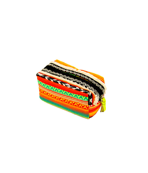 Mexican stripe box pouch