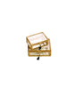 Matt gold metal trimmed small jewellery box