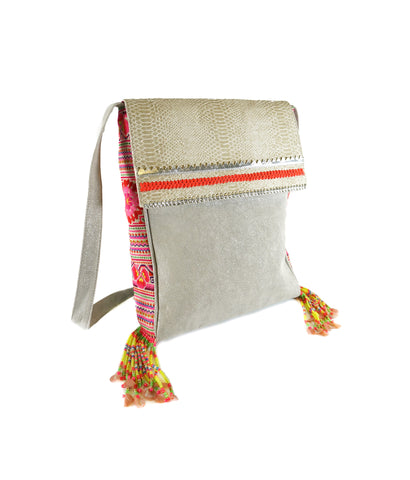 Carnaval Thai tassel cross body bag