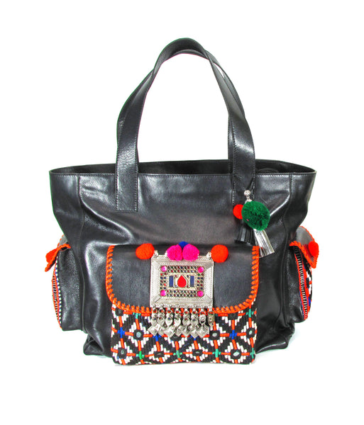 Carnaval black tribal traveller bag