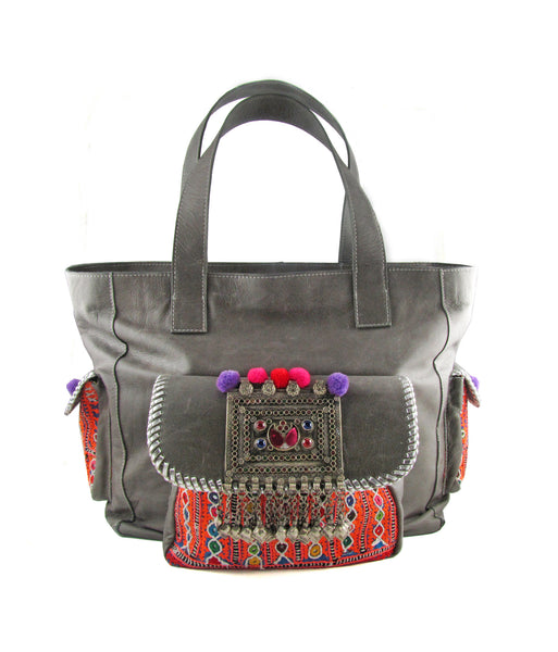 Carnaval Elephant grey tribal traveller bag