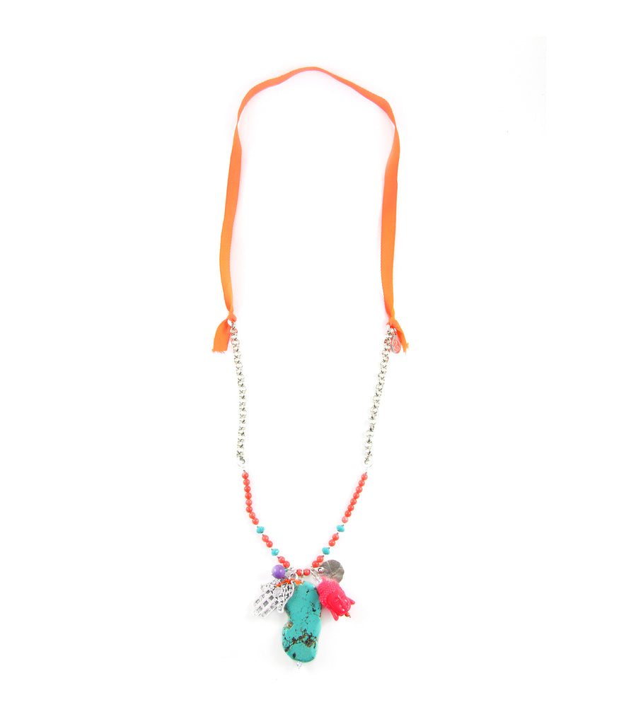 Carnaval Buddha cluster necklace
