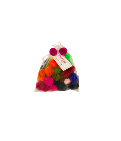 Pompom multicoloured garland