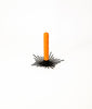 Black sun ray candle holder with terracotta candle