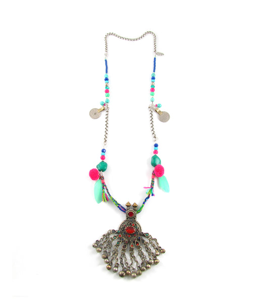 Carnaval festival jewelled pendant necklace