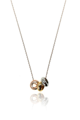Soul Jewellery Necklaces Rose Gold 3 Tones Circle Necklace - SOUL Special