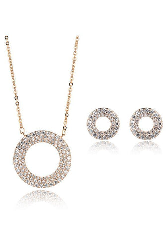 Knight & Day Jewellery Sets Rose Gold Adelynn Rose Gold Necklace & Earring Set