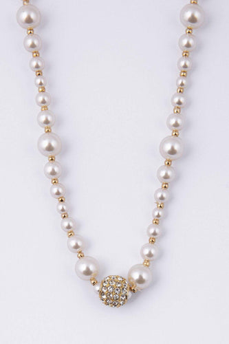 Knight & Day Necklaces Gold Agnelia Gold & Pearl Necklace