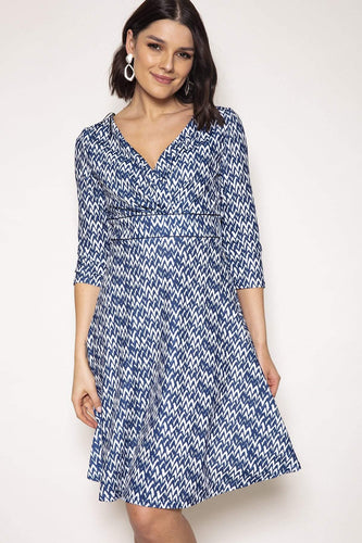 J'aime la Vie Dresses Aileen Dress in Blue Print