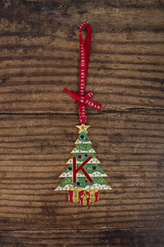 Tipperary Crystal Gift Christmas Tree Decorations Alphabet Christmas Tree Decoration - Letter K - Gift Box