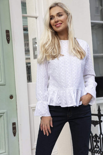 Anglaise Blouse in White