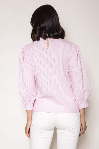 Rowen Avenue Tops Anglaise Top in Blush