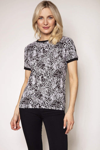 Rowen Avenue Tops Animal / S / Short Sleeve Animal Print Top