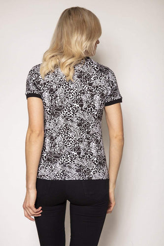 Rowen Avenue Tops Animal Print Top
