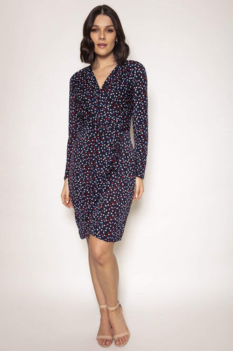 J'aime la Vie Dresses Navy / 10 / Midi Aoibhinn Dress in Navy Print