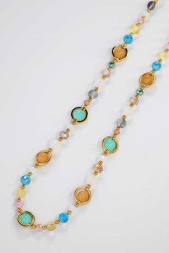 Soul Jewellery Necklaces Gold Aqua Bead Necklace