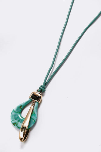 Soul Jewellery Necklaces Gold Aqua Necklace with Gold Tones