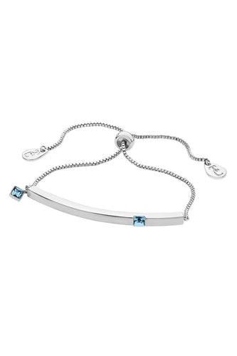 Tipperary Crystal Jewellery Bracelets Silver Aquamarine Bracelet March