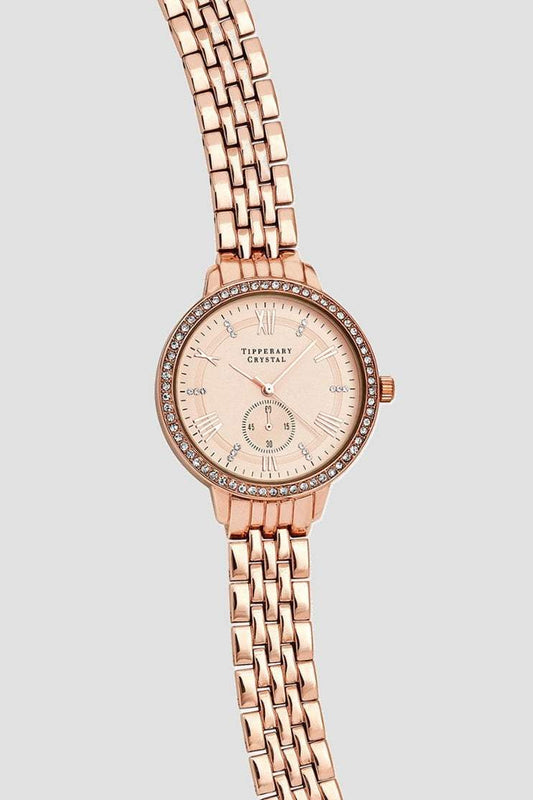 Tipperary Crystal Jewellery Watches Rose Gold Artemis Rose Gold Watch