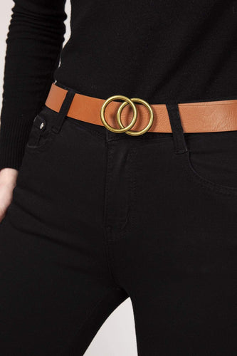 SOUL Accessories Belts Camel Basic Belt in Camel L/XL
