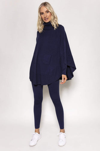 Nova of London Jumpers Navy / S/M Batwing Loungewear Top & Jogger Set