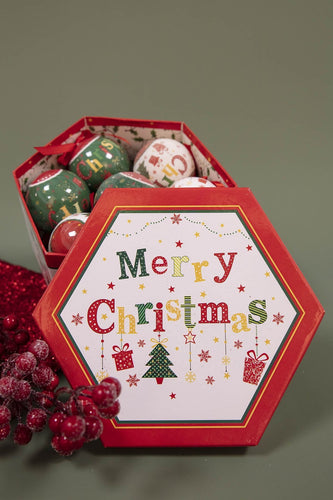 Carraig Donn HOME Christmas Tree Decorations Bauble Box Merry Christmas