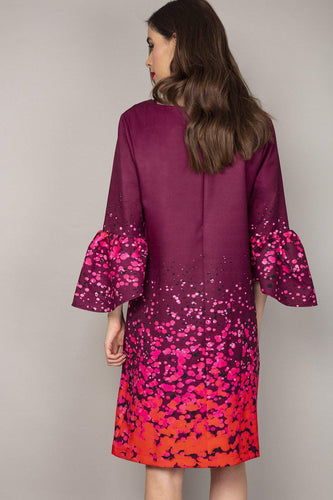 Rowen Avenue Dresses Bell Sleeve Dress in Purple