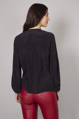 Rowen Avenue Blouses Bell Sleeves Blouse in Black