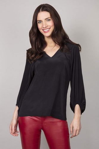 Rowen Avenue Blouses Black / 8 Bell Sleeves Blouse in Black