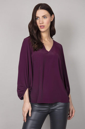 Rowen Avenue Blouses Purple / 8 Bell Sleeves Blouse in Purple