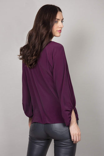 Rowen Avenue Blouses Bell Sleeves Blouse in Purple