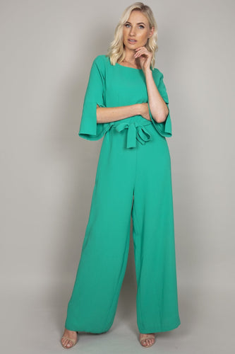 Daisy May Jumpsuits Green / 10 Belted Jumpsuit in Jade