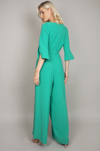 Daisy May Jumpsuits Belted Jumpsuit in Jade